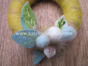 watermarked close-up of Easter wreath